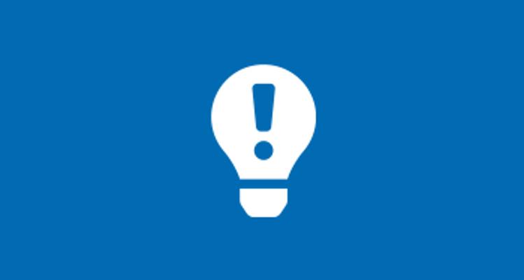 Defective light bulb icon