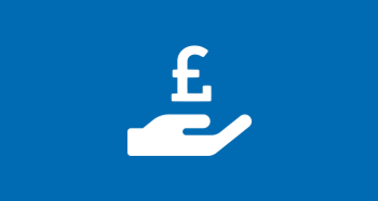 Hand holding pound sign icon