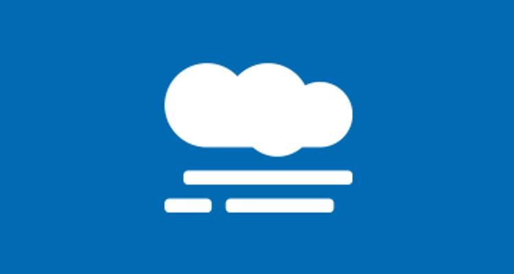 Smog air pollution icon